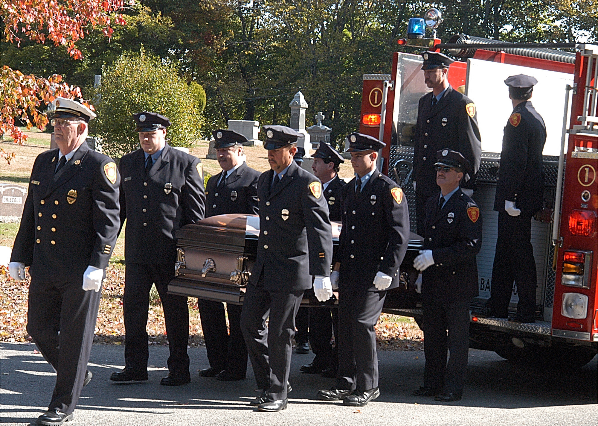 The Holliston Fire Department bid a fond farewell to Joseph J. Damigella,  Jr., retired Captain of Engine 2, who served on the department from 1943 to  1995.